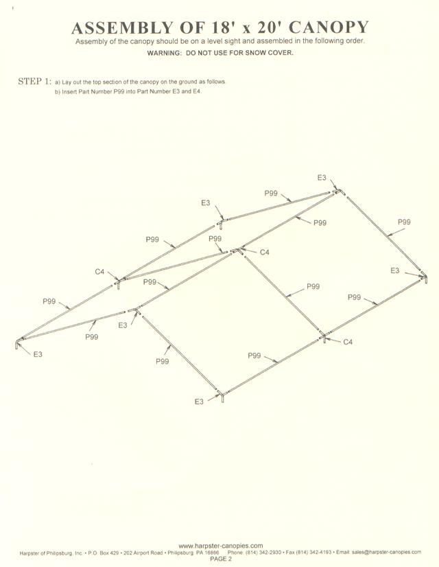 sc 1 st  Harpster Canopies & Setup Instructions